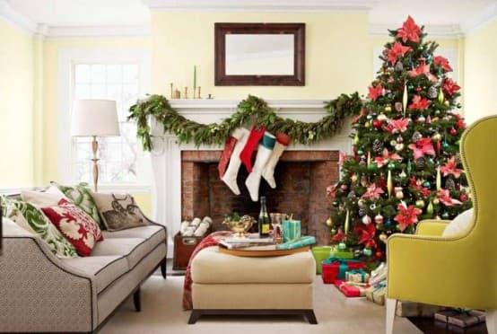 Рождественские идеи для камина
